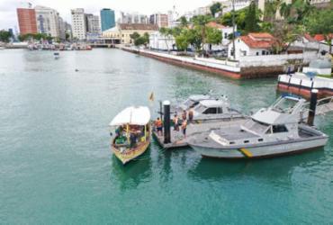 Pescadores são resgatados após quatro dias à deriva na Baía de Todos-os-Santos | Divulgação | Marinha