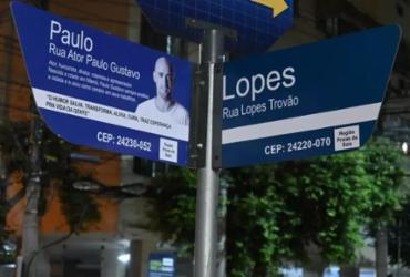 Placas com nome de Paulo Gustavo são instaladas em rua de Niterói | Divulgação | Prefeitura de Niterói