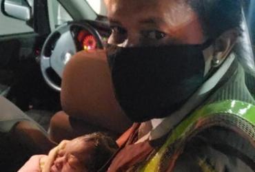 Grávida dá à luz em viatura no centro de Salvador | Divulgação