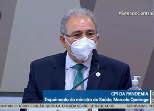 Acompanhe o depoimento do ministro Marcelo Queiroga à CPI da Covid | Reprodução | TV Senado