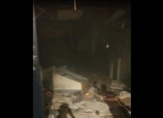 Bandidos explodem agência bancária e fazem rodoviários reféns em São Marcos | Reprodução | WhatsApp