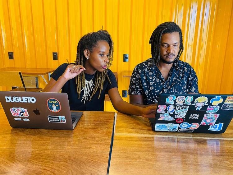 Monique e Lucas criaram plataforma de aprendizagem | Foto: Arquivo pessoal