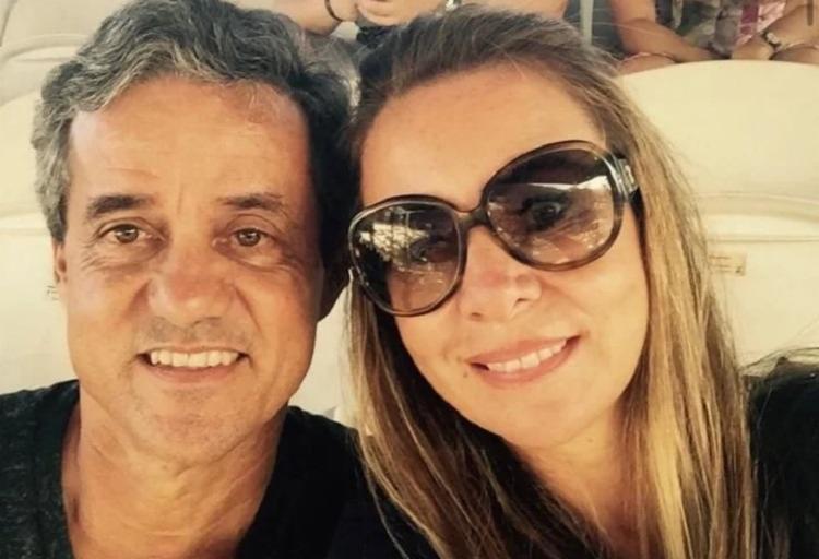 Arthur ao lado da ex-mulher, Daniela Maia, presidente da RioTur   Foto: Arquivo pessoal - Foto: Arquivo pessoal