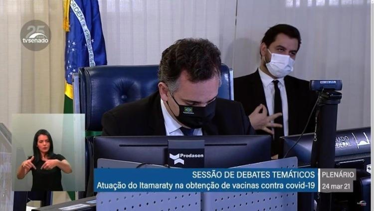 Filipe Martins fez gesto igual ao de supremacistas brancos durante audiência do ex-ministro Ernesto Araújo I Foto: Reprodução - Foto: Reprodução