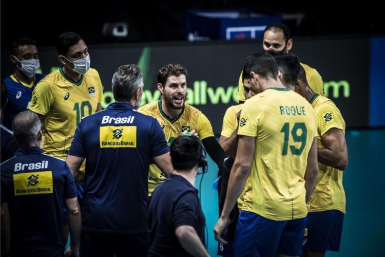 Em jogo equilibrado, equipe nacional derrotou Argentina por 3 sets a 0   Foto: Divulgação   FIVB - Foto: Divulgação   FIVB
