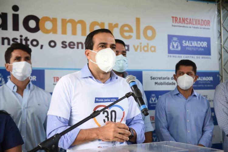 O prefeito divulgou um balanço da atual situação epidemiológica na capital   Foto: Betto Jr/ Secom - Foto: Betto Jr/ Secom