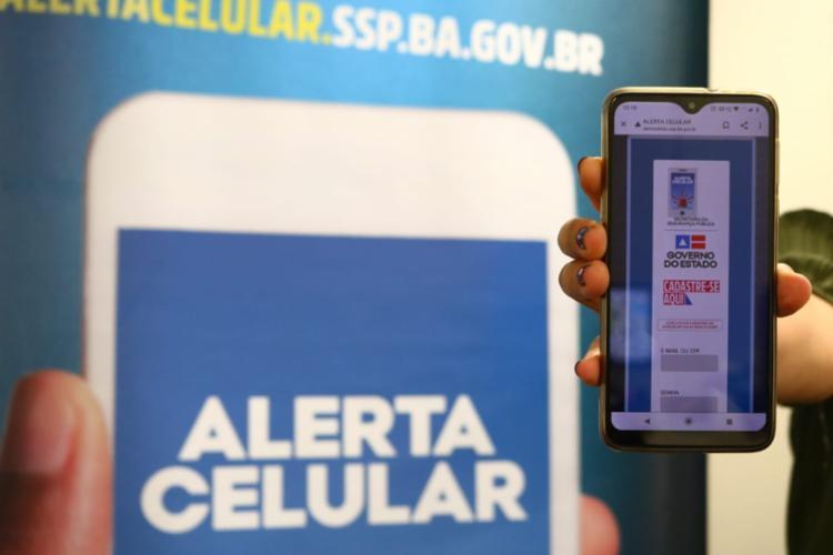 Cidadão vincula os seus dados ao do aparelho ao informar o IMEI, que pode ser obtido consultando a nota fiscal do equipamento | Foto: Vitor Barreto | SSP - Foto: Vitor Barreto | SSP
