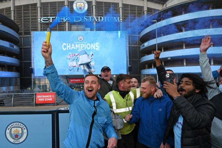 É a 3ª vez que time é campeão em cinco temporadas com Guardiola | Foto: Paul Ellis | AFP - Foto: Paul Ellis | AFP