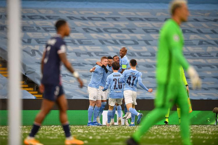 O argelino Riyad Mahrez foi o autor dos dois gols que deram a vitória ao City | Foto: Paul Ellis | AFP - Foto: Paul Ellis | AFP