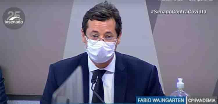 Fabio Wajngarten presta depoimento na CPI da Covid   Foto: Reprodução   TV Senado - Foto: Reprodução