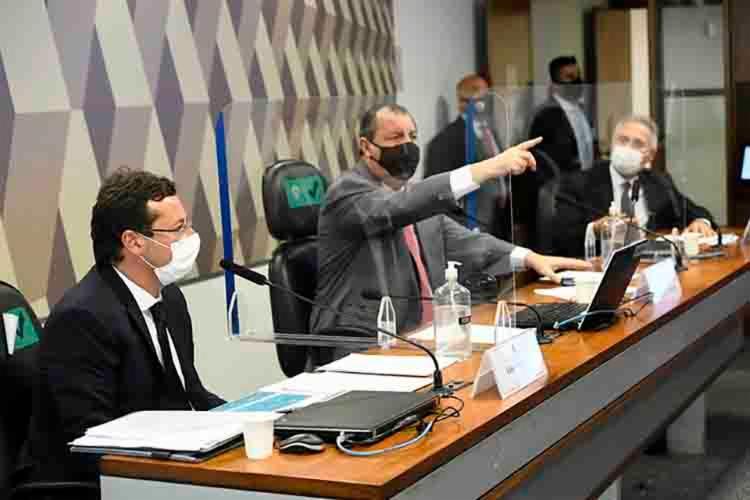 Fabio Wajngarten depõe na CPI da Pandemia - Foto: Agência Senado
