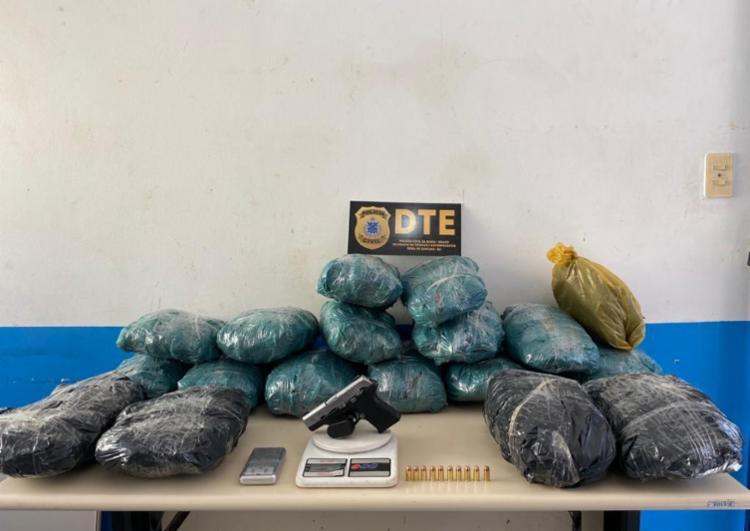 Casa do homem funcionava como ponto de armazenamento de drogas - Foto: Divulgação   SSP