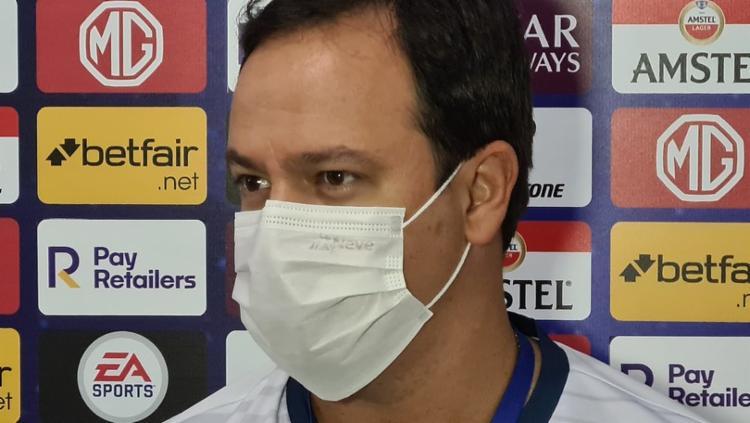 Dado optou por começar com o atacante Óscar Ruiz na vaga do meia Thaciano | Foto: Reprodução - Foto: Reprodução