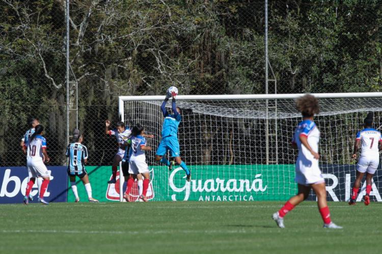 Com o resultado, as Mulheres de Aço seguem na penúltima posição da tabela | Foto: Jéssica Maldonado | Grêmio FBPA - Foto: Jéssica Maldonado | Grêmio FBPA