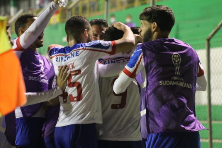 O único gol da partida foi marcado pelo atacante Gilberto   Foto: Bruno Queiroz   EC Bahia - Foto: Bruno Queiroz   EC Bahia