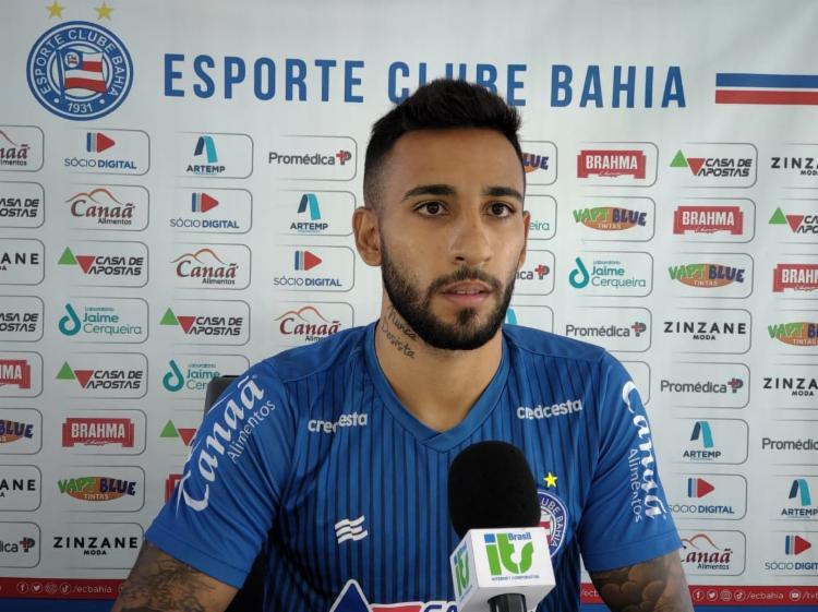 Jogador será titular diante do Santos, na estreia do Brasileirão | Foto: Bruno Queiroz | E.C.Bahia - Foto: Bruno Queiroz | E.C.Bahia