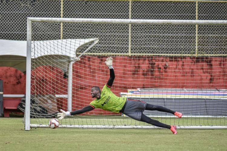 Goleiro não defende o clube desde 2019 e deve passar por novo empréstimo   Foto: Pietro Carpi   EC Vitória - Foto: Pietro Carpi   EC Vitória