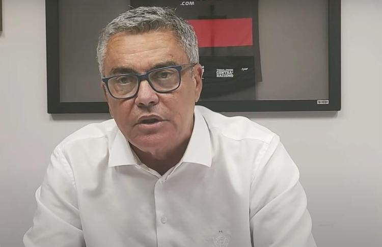 Paulo Carneiro, presidente do Esporte Clube Vitória   Foto: Reprodução   TV Vitória - Foto: Reprodução   TV Vitória