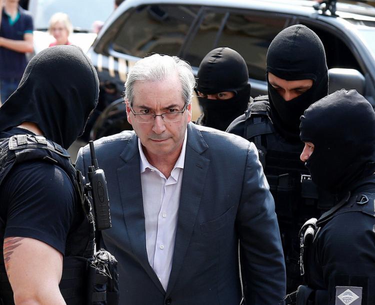 Eduardo Cunha havia sido preso em outubro de 2016 e, desde março do ano passado, cumpria a prisão em casa | Foto: Rodolfo Buhrer | Reuters | 20.10.2016 - Foto: Rodolfo Buhrer | Reuters | 20.10.2016