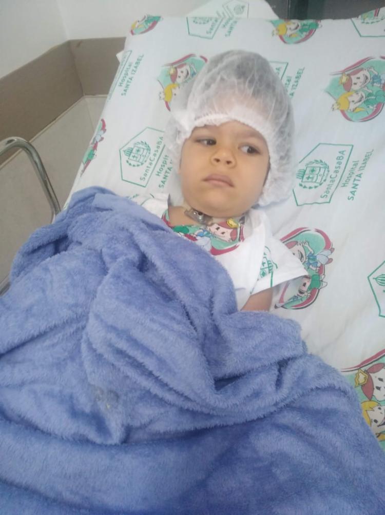 Última cirurgia realizada por Miguel foi em 14 de abril | Foto: Acervo Pessoal