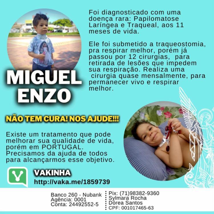 Campanha busca conseguir ajuda financeira para custear tratamento | Foto: Divulgação