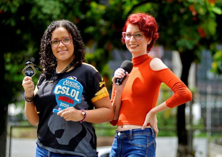 Melanie Brasil comanda a equipe Stormtiger e Catarine Struck é apresentadora de E-Sports   Foto: Shirley Stolze   Ag. A TARDE - Foto: Shirley Stolze   Ag. A TARDE