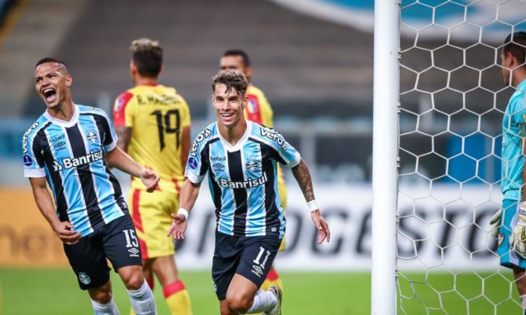 Tricolor Gaúcho impõe placar histórico sobre o Aragua | Foto: Lucas Uebel | Grêmio - Foto: Lucas Uebel | Grêmio