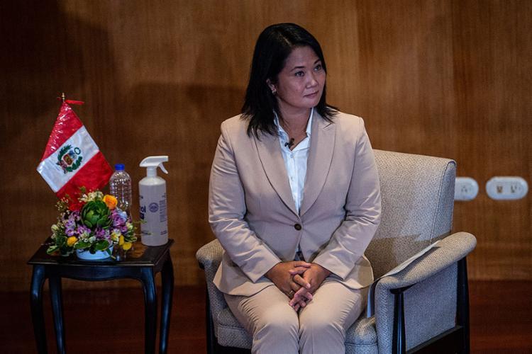 A candidata presidencial de direita está proibida de viajar sem autorização judicial por estar sob investigação | Foto: Ernesto Benavides | AFP - Foto: Ernesto Benavides | AFP
