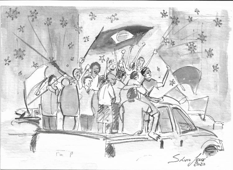 Desfile das infâmias | Ilustração: Silvio Jessé