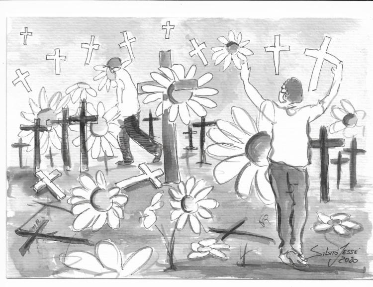 Malmequeres pisoteados | Ilustração: Silvio Jessé