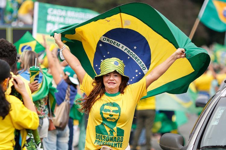 As concentrações aconteceram na maioria das principais cidades brasileiras, como Brasília, São Paulo e Rio de Janeiro   Foto: Sergio Lima   AFP - Foto: Sergio Lima   AFP