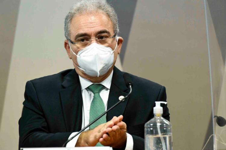 Ministro da Saúde depõe na CPI da Covid - Foto: Divulgação / Ag. Senado