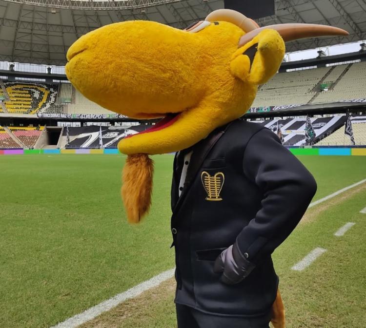 O mascote oficial da Copa do Nordeste já se encontra no palco do duelo | Foto: Reprodução | Twitter - Foto: Reprodução | Twitter