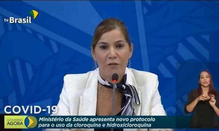 Ao MPF, ela confirmou que o ofício em que cobrava a adesão dos médicos ao tratamento precoce   Foto: Reprodução   TV Brasil - Foto: Reprodução   TV Brasil
