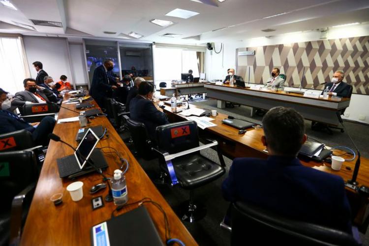 Ministro da Saúde, Marcelo Queiroga, presta depoimento na CPI do Senado - Foto: Agência Brasil   Divulgação