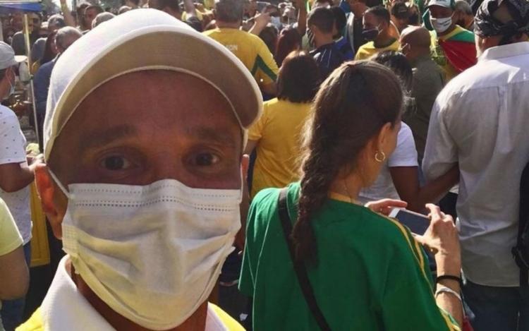 O cantor Netinho participou de ato pró-Bolsonaro na Avenida Paulista - Foto: Reprodução