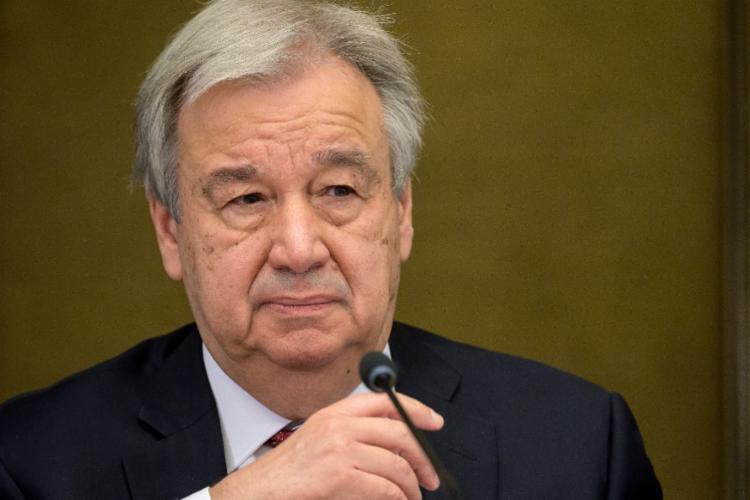 Secretário-geral da ONU, António Guterres, fez um apelo para que a comunidade internacional adote uma lógica bélica para lutar contra a pandemia   Foto: Fabrice Coffrini   AFP - Foto: Fabrice Coffrini   AFP