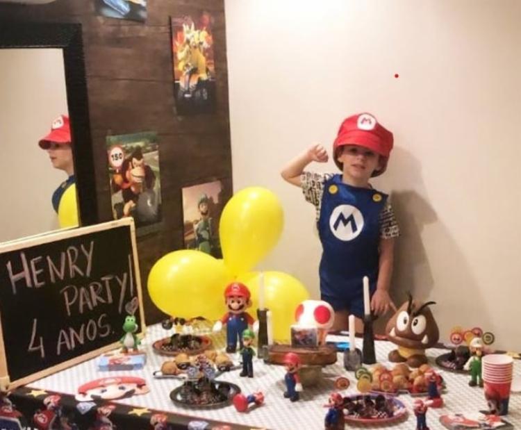 Aos seus 4 anos, Henry Borel se fantasiou do personagem Mario | Foto: Reprodução | Instagram - Foto: Reprodução | Instagram