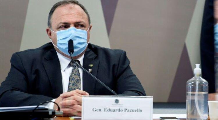 É a primeira vez que Pazuello liga o chefe do Executivo a uma das medidas do governo mais questionadas na gestão da crise sanitária I Foto: Reprodução - Foto: Reprodução
