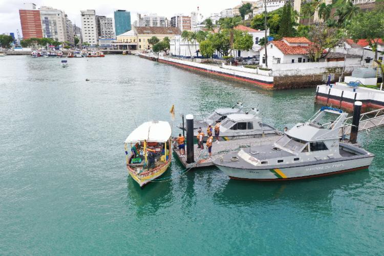 A embarcação pesqueira