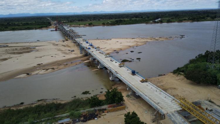 Ponte teve investimento total de R$ 133 milhões e deverá ser entregue no final de outubro | Foto: Matheus Carneiro | Concef - Foto: Matheus Carneiro | Concef