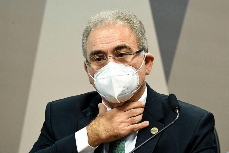 Ministro contrariou posicionamento do presidente Jair Bolsonaro, que é um ferrenho defensor do medicamento   Foto: Jefferson Rudy   AFP - Foto: Jefferson Rudy   AFP