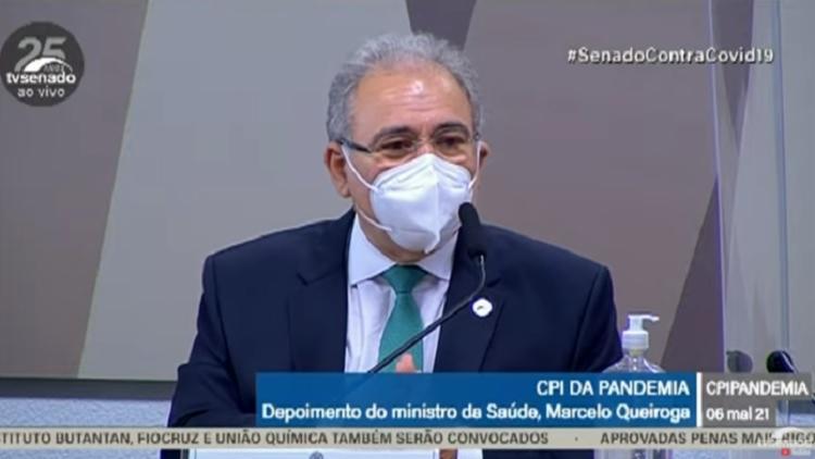 Marcelo Queiroga assumiu o cargo em março desse ano | Foto: Reprodução | TV Senado - Foto: Reprodução | TV Senado