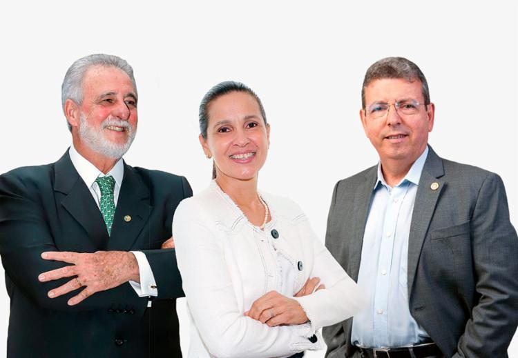 O presidente do Sebrae Nacional, Carlos Melles; a vice-coordenadora e o coordenador de MPMEs da ACB, Rosemma Maluf e Carlos Gantois | Foto: Reprodução - Foto: Reprodução