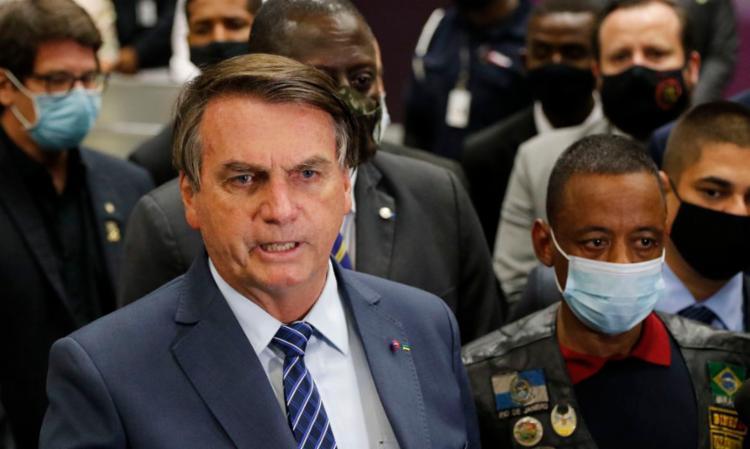 O presidente brasileiro, Jair Bolsonaro (sem partido), esteve no Galeão para recepcioná-lo | Foto: Fernando Frazão | Agência Brasil - Foto: Fernando Frazão | Agência Brasil