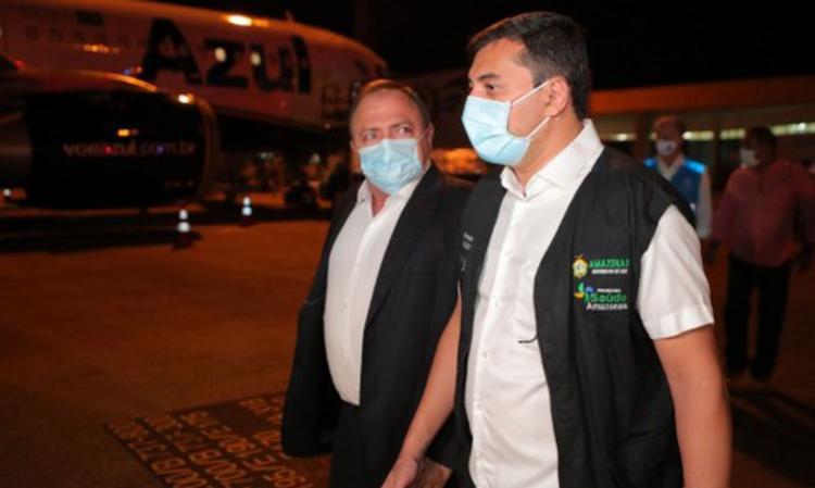 Ex-ministro Eduardo Pazuello afirmou que governador teria dito que reunia condições para enfrentamento à Covid / Foto: Diego Peres | Secom GOV AM - Foto: Diego Peres | Secom GOV AM