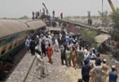 Acidente ferroviário deixa 40 mortos no sul do Paquistão | Foto: Shahid Ali | AFP
