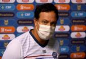 Dado admite má atuação do Bahia, mas ironiza pênalti marcado para o Internacional | Foto: Felipe Oliveira | EC Bahia
