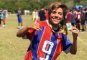 Atleta sub-13 do Bahia, Enzo Bülhman se destaca no cenário futebolístico local | Foto: Divulgação