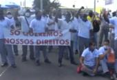 Rodoviários bloqueiam parte da Avenida ACM e reivindicam direitos trabalhistas | Foto: Reprodução | TV Bahia